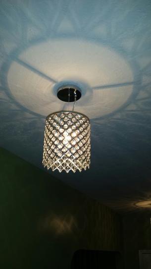 Decor Living 1-Light Crystal and Chrome Chandelier 104328-15
