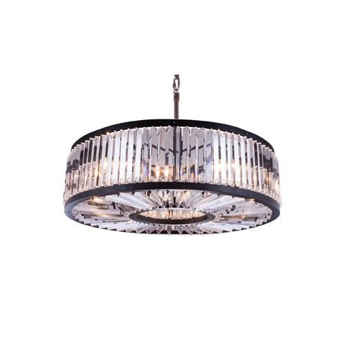 This Pendant has crystal bars in clear or shades of gold and silver welded to various finishes in a circular pattern. This collection will add a shimmer of brilliance to any living space. Item # SKU: WIG 551203G43/MB/RC  Contact us now for more information. @customlighting