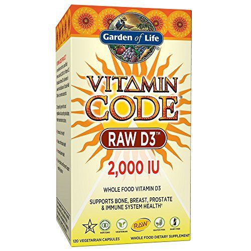 Vitamin Code RAW Vitamin D3 is different from any other vitamin D nutritional supplement available today. In following with the Vitamin Code philosophy, RAW Vitamin D3 is a whole food vitamin D complex that is gluten- and dairy-free with no binders or fillers, and contains live probiotics and... more details at http://supplements.occupationalhealthandsafetyprofessionals.com/vitamins/vitamin-d3/product-review-for-garden-of-life-d3-vitamin-code-whole-food-raw-d3-vitamin-supplem