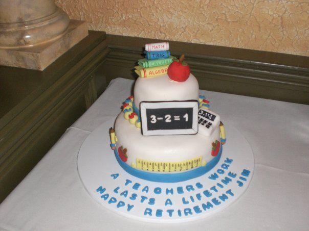 retirement cakes Math teacher retirement cake ...