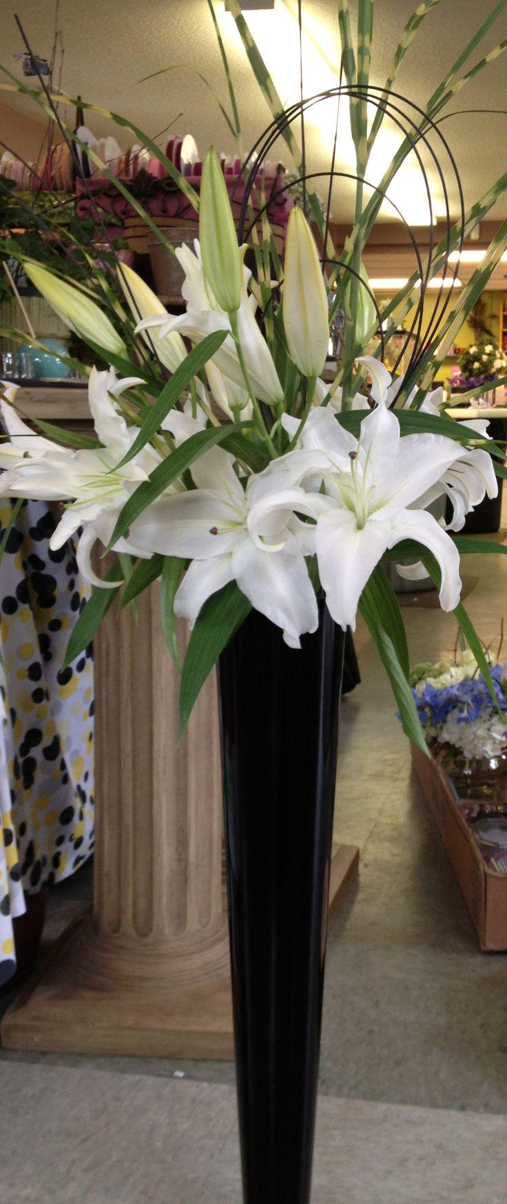 Best lilies flower arrangement images on pinterest