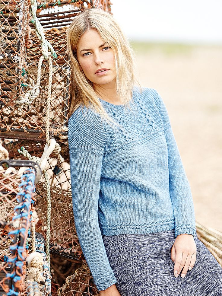 Kesale - This classic womens gansey style sweater features in Rowan Knitting & Crochet Magazine 59. Designed by Marie Wallin using the Original Denim yarn it features a cable and texture yoke making it suitable for the knitter with a little experience.
