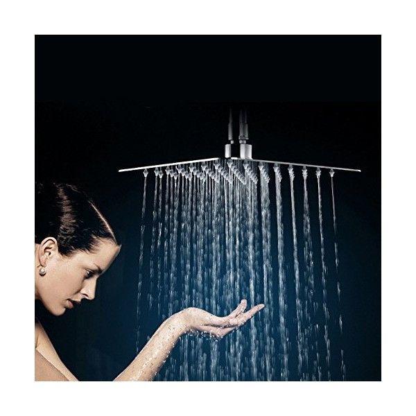 ワイエヌストア - SR SUNRISE オーバーヘッドシャワー 30*30CM 角形シャワーヘッド高圧降雨シャワーヘッド超薄型節水クローム仕上げ2.5 GPM|Yahoo!ショッピング