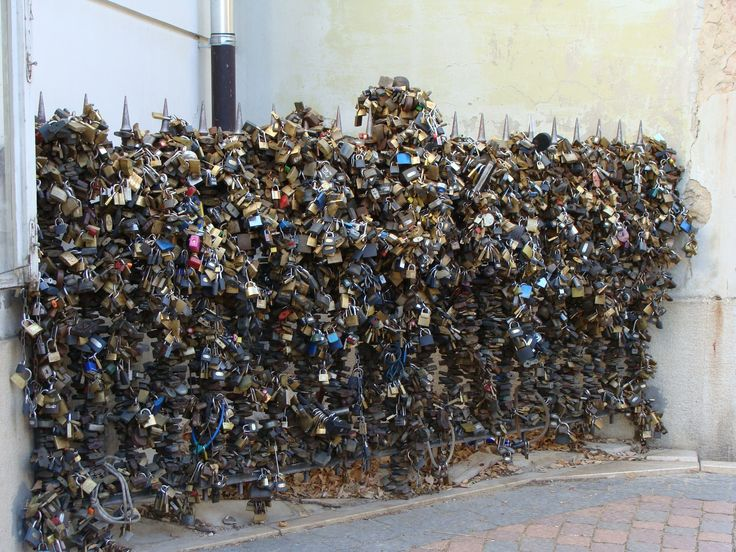 Wall of love-locks #Pecs #Hungary #love