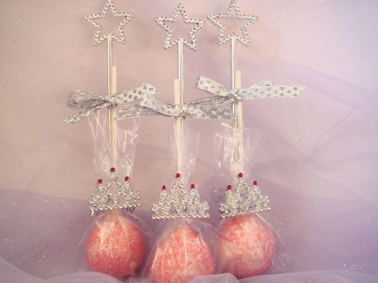 princess cake pops for birthday party favors bridal baby shower girls