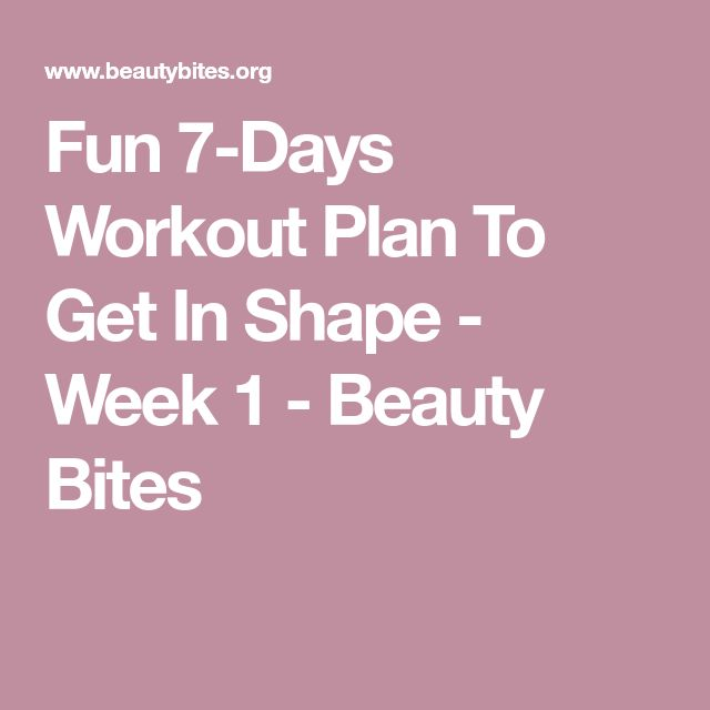 The 25+ best 7 day workout plan ideas on Pinterest 2 week - weekly workout plan