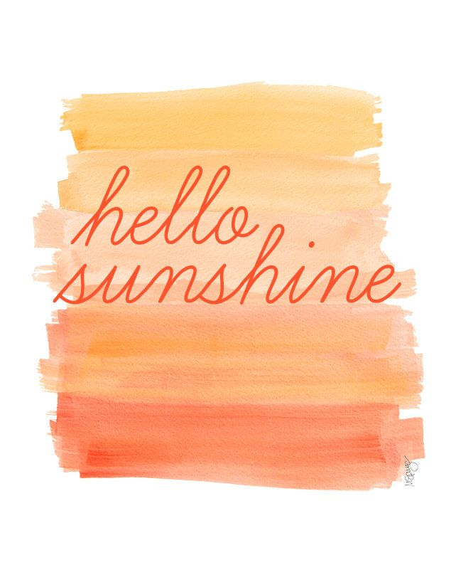 Hello Sunshine Watercolor Painting Citrus by OutsideInArtStudio, $18.00
