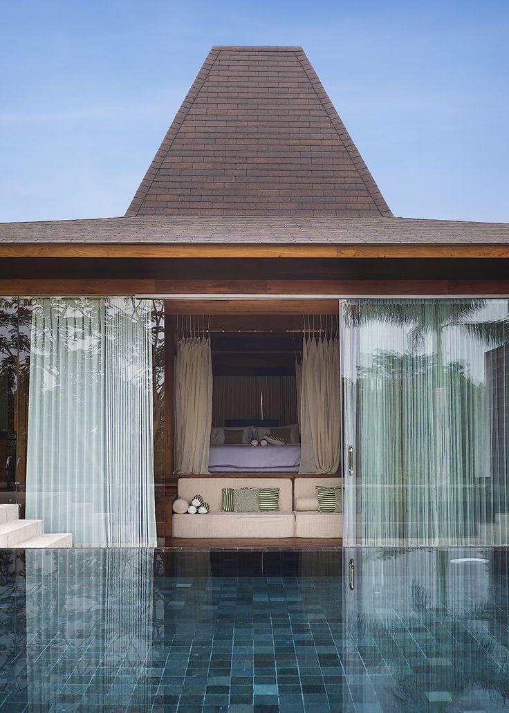 Djoglo Villa in Malang, Indonesia by Ellyana Tse  #wood #pool #tropical #hospitality #villa #interior #design