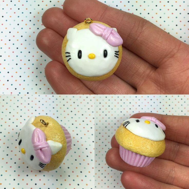 Hello Kitty cupcake!☺️ Have a great weekend everyone! #polymerclay#clay#fimo#jewelrymaking#instagood#kitty#cat#friday#diy#happy#handmade#håndlaget#madebyme#norway#januar#charm#kawaii#photooftheday#pink#love#instagood#jewelry#winter#cupcake#sugar#sweet#little