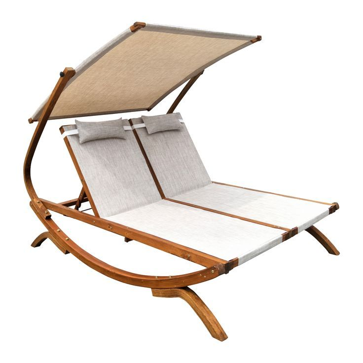 Leisure Season Ltd Double Reclining Lounge Chair With Canopy