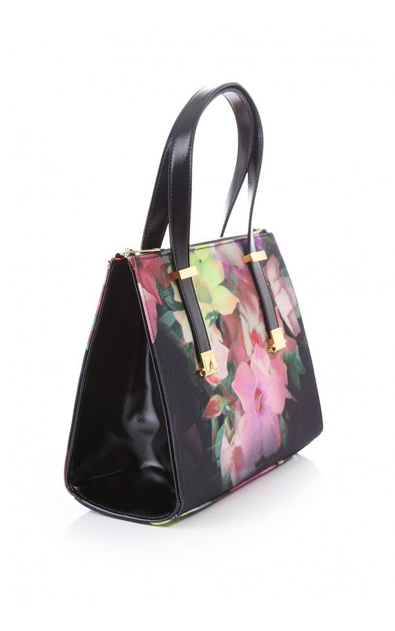 Ted Baker Womens Accessories Ted Baker Womens Cielle Cascading Floral Canvass Bag Black