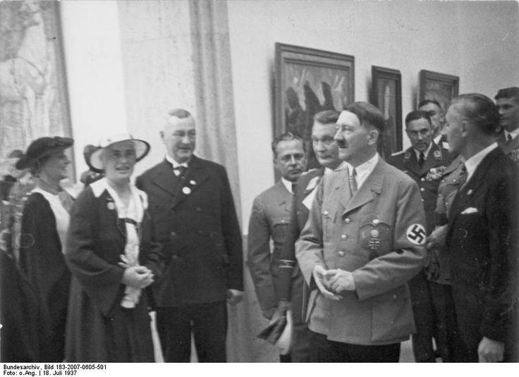 Chancellor Hitler touring the House of German Art, Munich, Germany, 18 Jul 1937