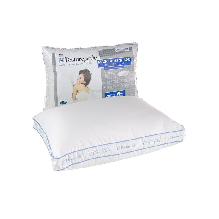 Sealy Posturepedic Pillow, Extra-Firm Standard/Queen, White