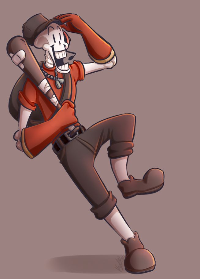 I now present: Papyrus as a Scout from TF2