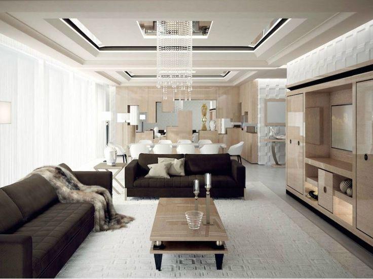 Mueble modular de pared de madera maciza con soporte para tv KOKKO LUX by…