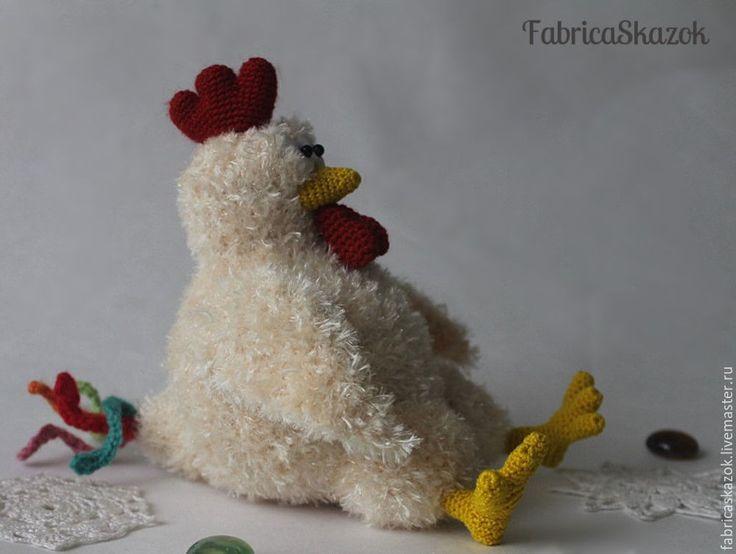 Купить Вязаный петух, петух игрушка, новогодний петушок, символ года 2017 - бежевый, петух