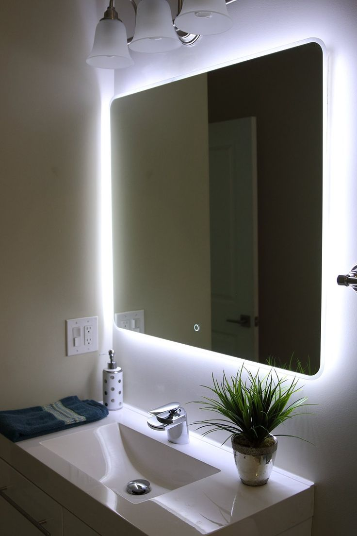 "Windbay Backlit Led Light Bathroom Vanity Sink Mirror. Illuminated Mirror. (30""): Home & Kitchen"