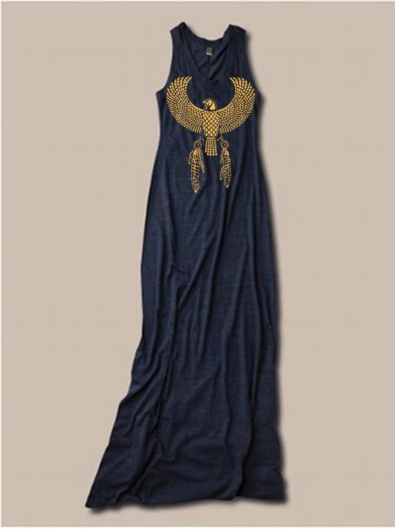 EGYPTIAN EAGLE  Bohemian Tank Top Dress