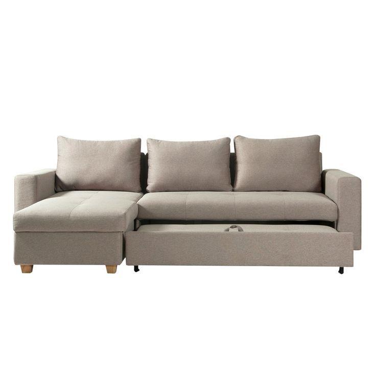 Kleines Ecksofa Mit Schlaffunktion Und Bettkasten Im Modern Couch Couch Sofa