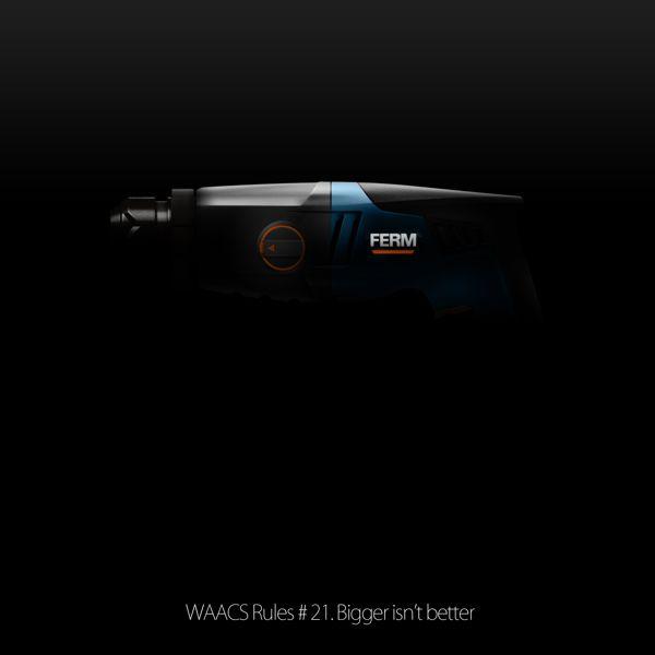 WAACS Rules #21. Bigger isn't better by WAACS crew, via Behance