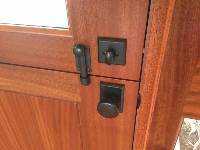 The Stylish Look Of The Ives Dutch Door Bolt Is A Great