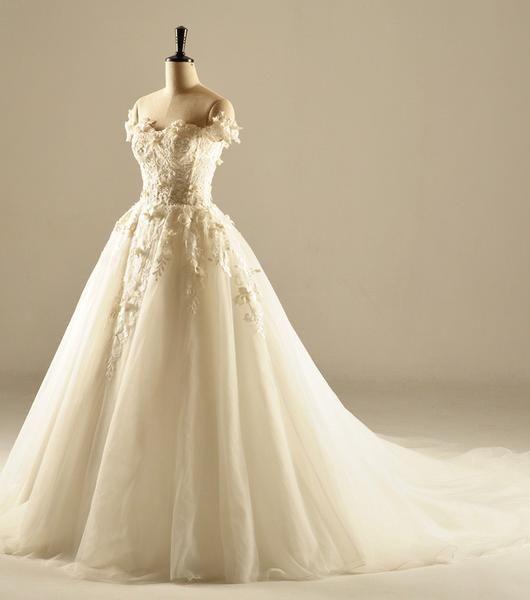 Плеча с коротким рукавом Кружева Свадебные платья, выполненные на заказ свадебные платья, дешевые свадебные платья, свадебные WD224