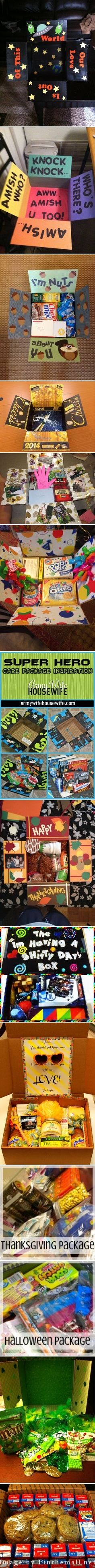 Away from Home Care Packages - created via http://pinthemall.net