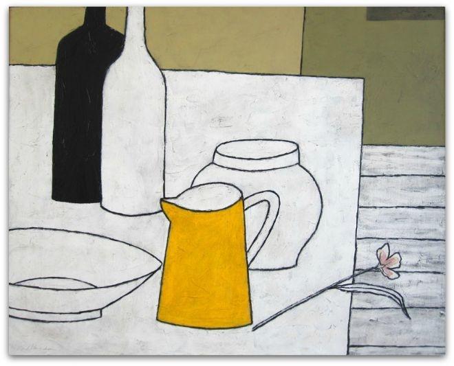 Yellow Milk Jug by Geoffrey Robinson