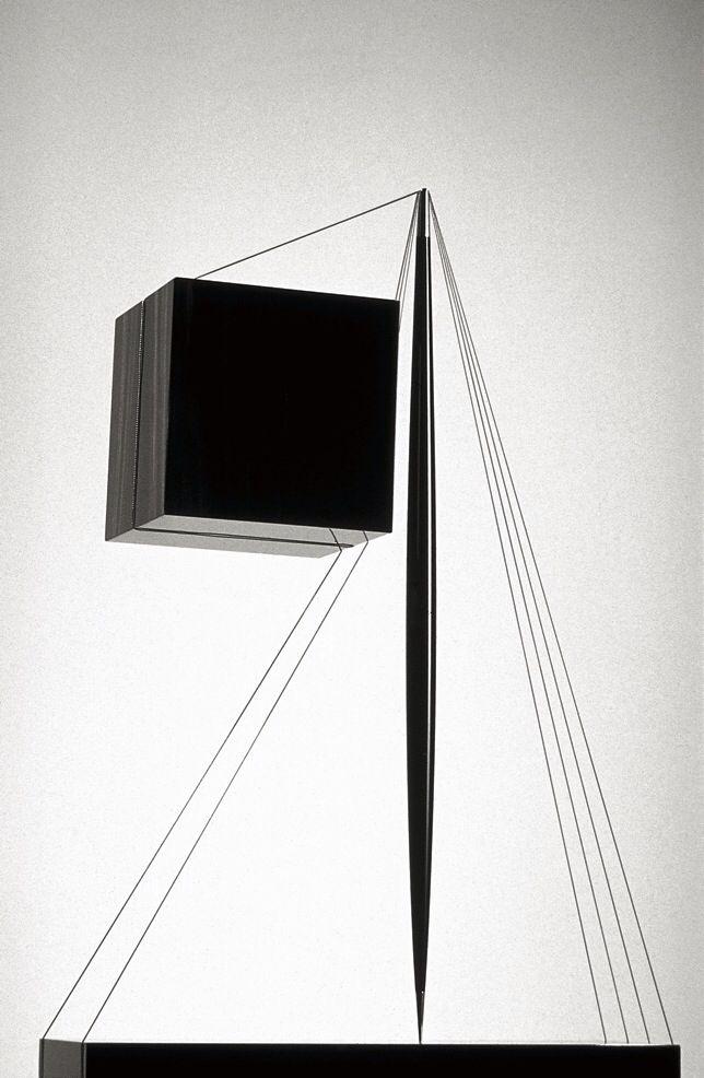 Santiago Calatrava | Untitled Sculpture | 1994 | ebony and stainless steel | http://www.calatrava.com