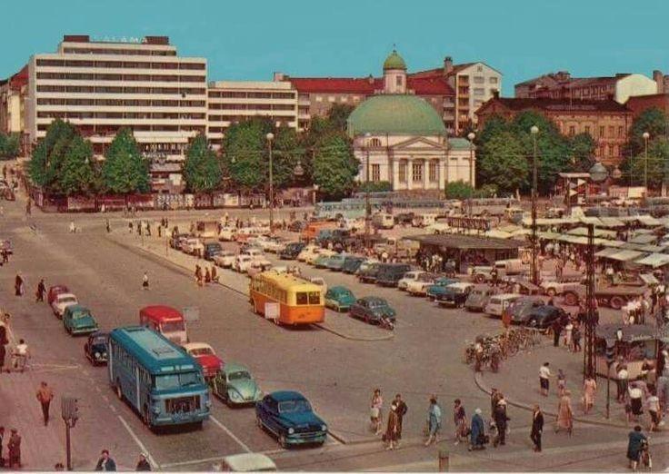 Turku market square, 1962