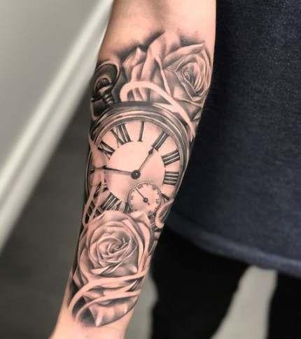 47 Ideas For Tattoo Designs Forearm Clock Wrist Tattoos For Guys Rose Tattoos For Men Sleeve Tattoos For Women