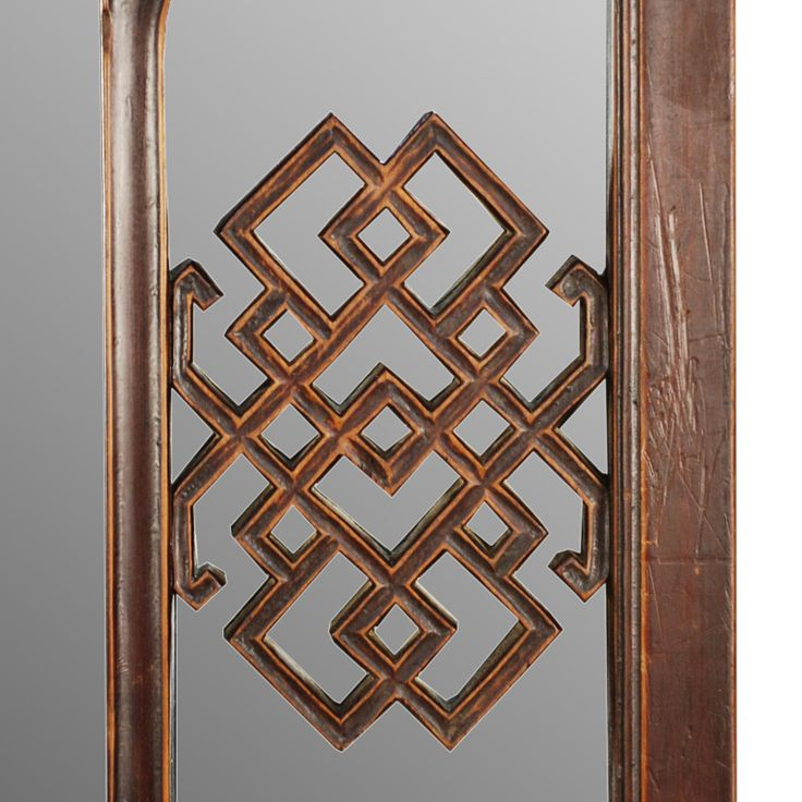 Early 20th Century Chinese Window Lattice Panel with Mirror image 2
