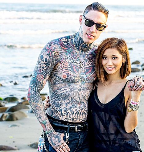 Brenda Song and Trace Cyrus Back Together? Exes Hold Hands in New Pic - Us Weekly - When Tattoos Attack