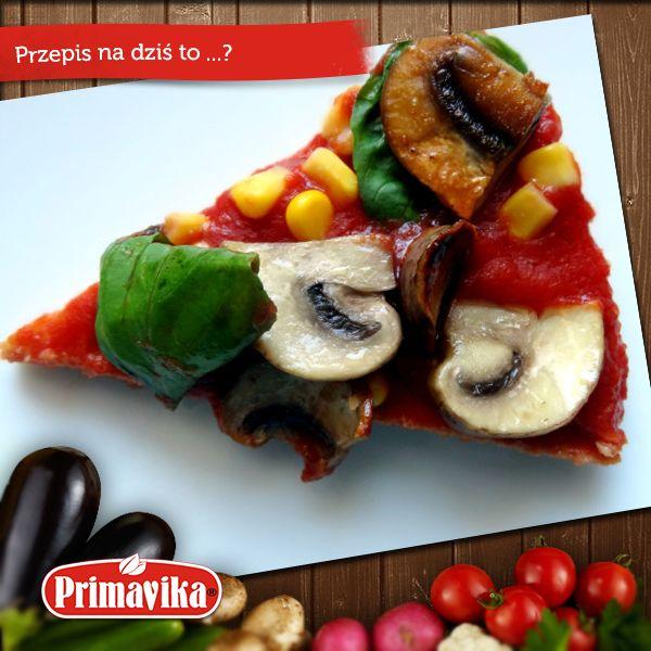 Zdrowa pizza z pieczarkami, bazylią i ... ketchupem Primavika   Smaczna i zdrowa!  PRZEPIS: http://pysznewege.com/2014/05/07/prawiepizza-z-pieczarkami-i-bazylia-bezglutenowa/