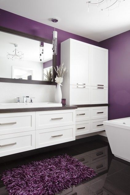les 25 meilleures id es de la cat gorie salle de bain mauve sur pinterest murs mauves chambre. Black Bedroom Furniture Sets. Home Design Ideas