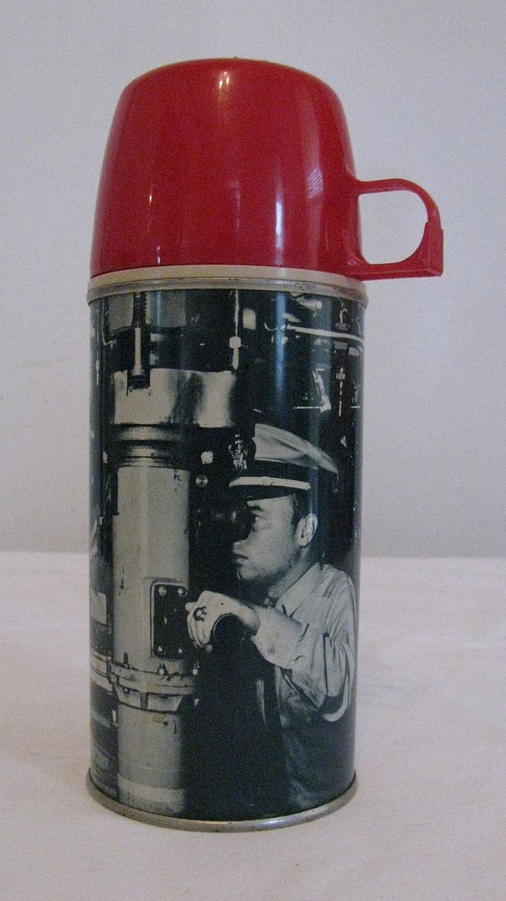 Near Mint Vintage 1960 Submarine Thermos - Original Cap and Stopper - No rust or image wear. by Snootyparrot on Etsy