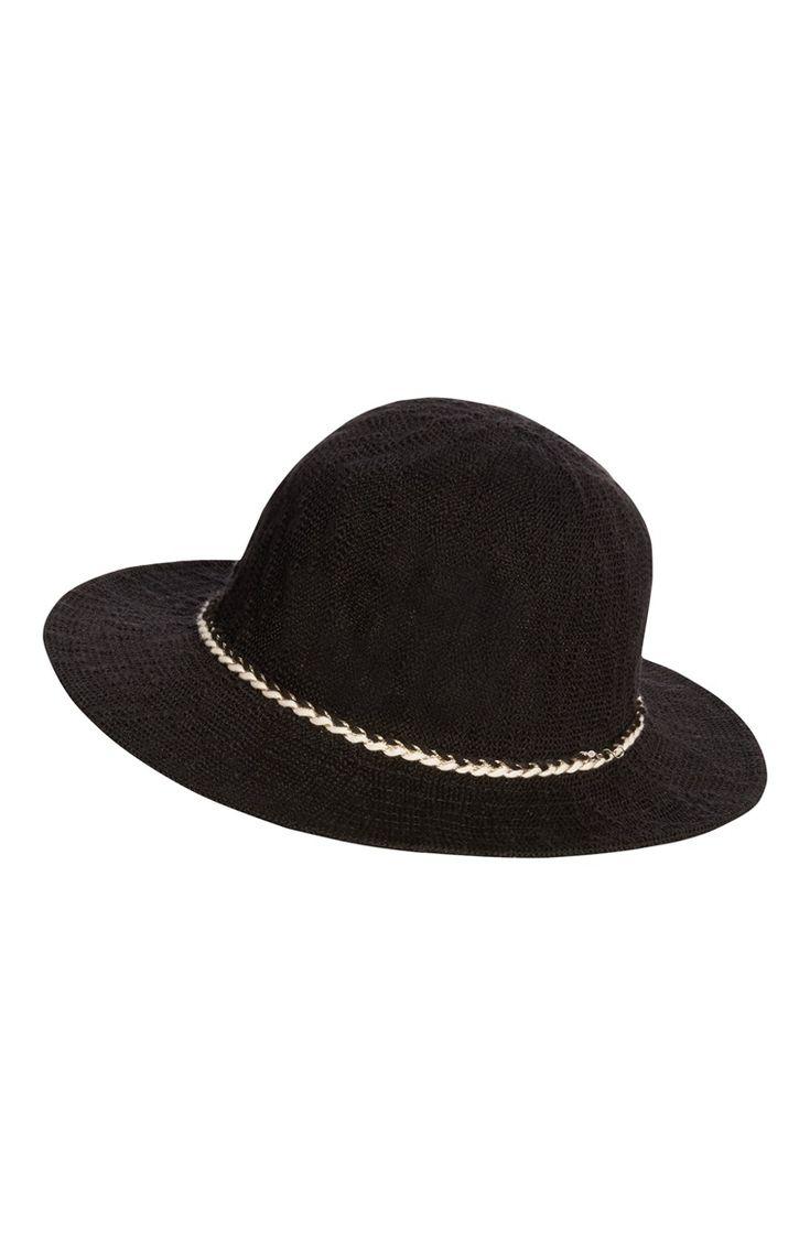 Primark - Fedora-hoed van zwarte stof