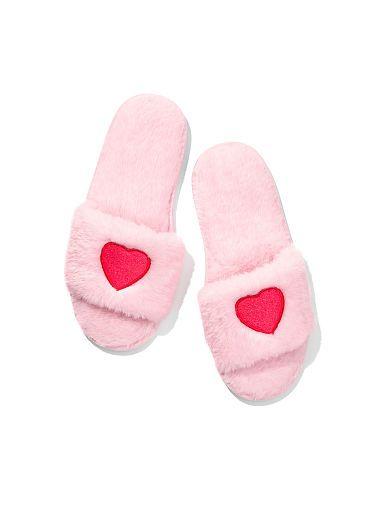 a9efcb7e714f Heart Faux-fur Slipper