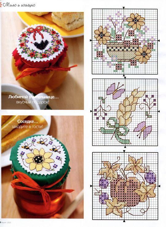 Cross-stitch Mason Jar Tops, part 1... color chart on part 2... Gallery.ru / Фото #35 - ФР_08(17)_2010 г. - f-morgan