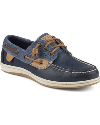 On Sale! Sperry Top-Sider Songfish Wax Boat Shoe Navy, Size 5.5M Women's