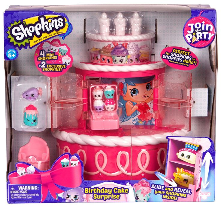 Amazon.com: SHOPKINS JOIN THE PARTY PLAYSET - BIRTHDAY CAKE SURPRISE: Toys & Games