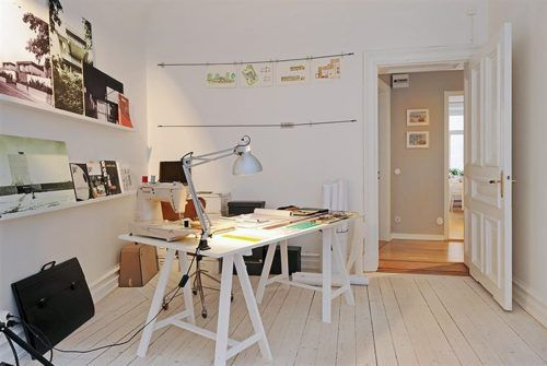 workspaces - A home in Gothenburg | via apartmenttherapy