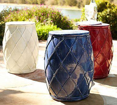 Net Ceramic Accent Table, Ivory. Ceramic Garden StoolsCeramic StoolBirdhouse  IdeasBirdhousesOutdoor ...