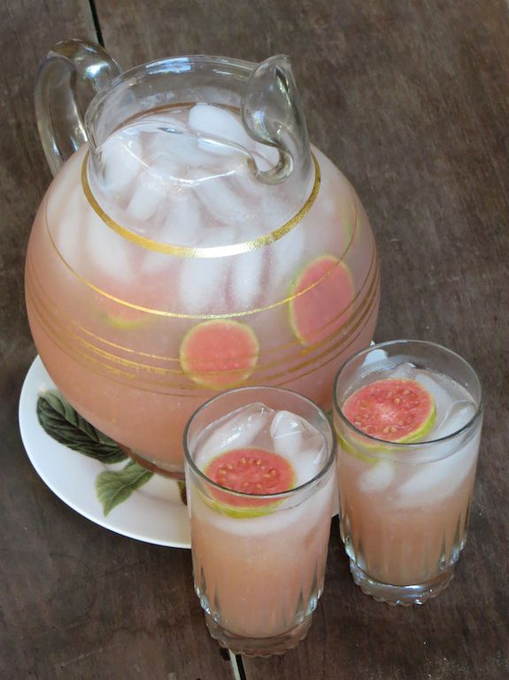 Guava Agua Fresca -- these fragrant fruits are great for your skin and contain five times the vitamin C found in oranges!