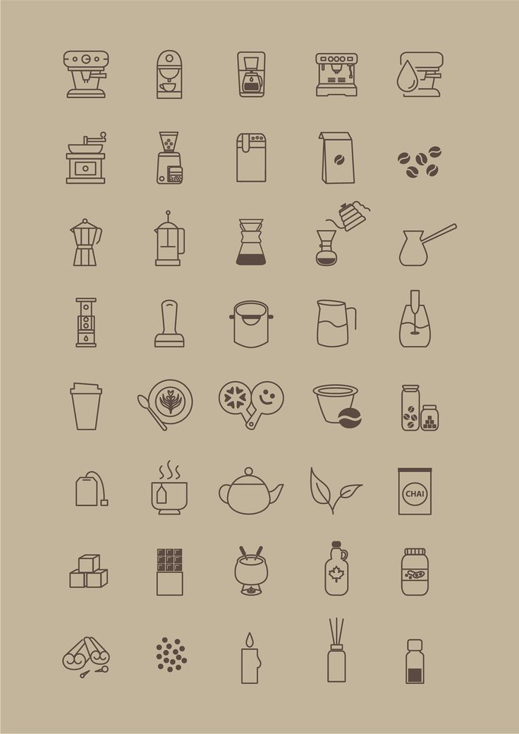 Free Icon Set for Coffee Store Icons AI Coffee Food and Drink Free Graphic Design Icon Resource Store Vector