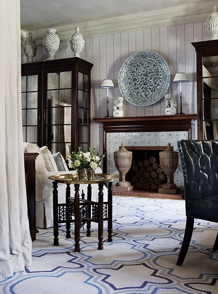 John Jacob Interiors Living Room FireplaceSouth Shore DecoratingDesign