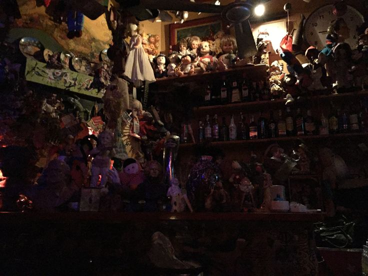 A Weird & Wonderful small Bar In The Old Town of Valencia Full of dolls and toys, definitely worth a visit if you can find it