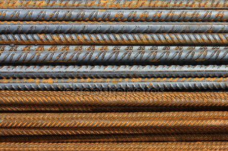 ダウンロード - さびた鉄筋の金属のテクスチャ パターン — ストック画像 #12282605