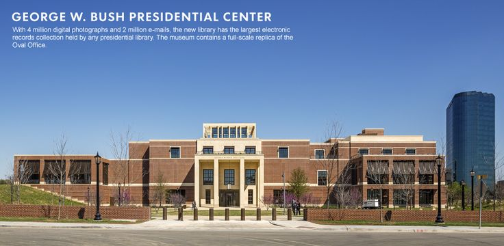 George W. Bush says library a place to lay out facts