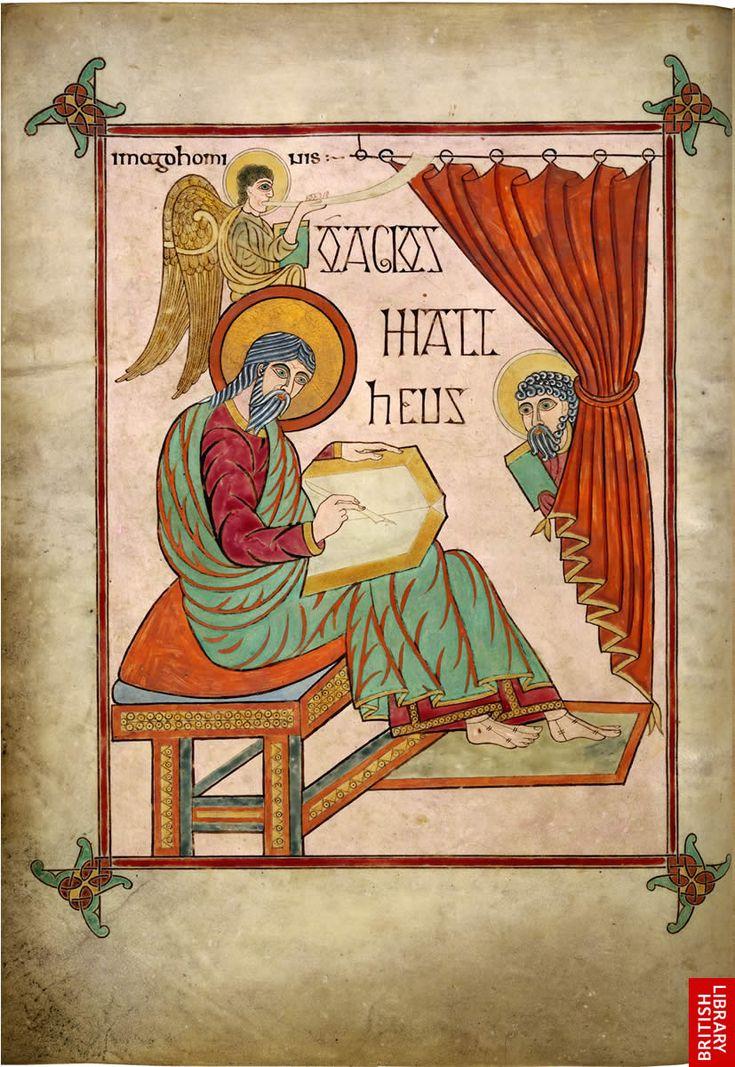 Lindesfarne Gospels   St. Matthew cross carpet page Hiberno-Saxon Ink and gold on vellum illuminated manuscript